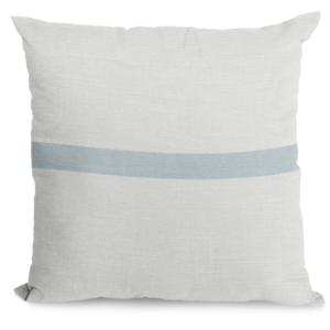 Light Blue and Ivory Throw Pillow