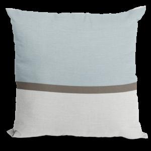 Blue White Brown Throw Pillow