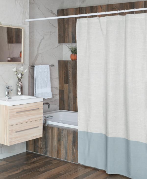 Color Block Shower Curtain