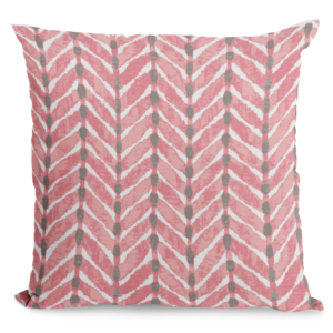 Watermelon colored throw pillow