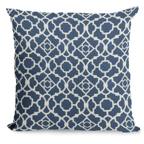 Navy and white throw pillow