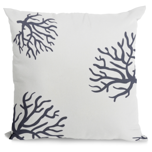 Navy and White Coral Design