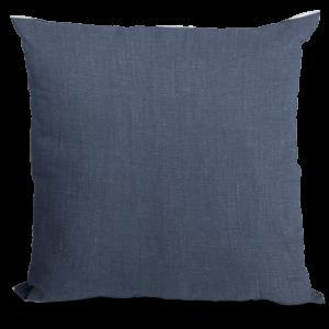 Solid Navy Linen Pillow