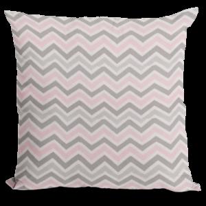 Pink, gray and white zigzag Fabric