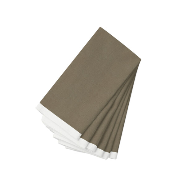 Cocoa with white Linen Napkin-6 Pack