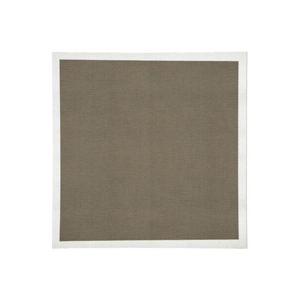 Cocoa with white Linen Napkin Flat