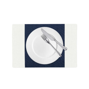 Downtown Navy and White Linen Placemat