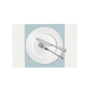 Light Blue and White Linen Placemat