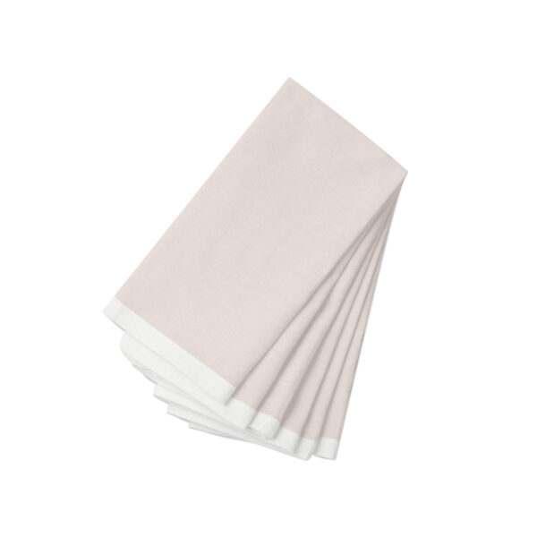 Pink with white Linen Napkin-6 Pack