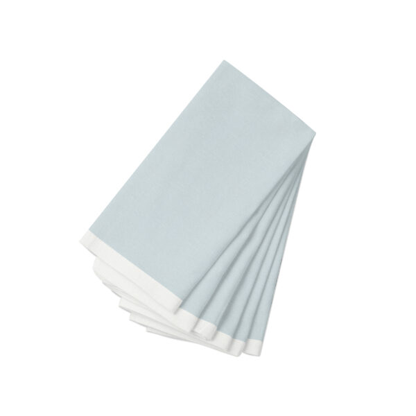 Sky with white Linen Napkin-6 Pack