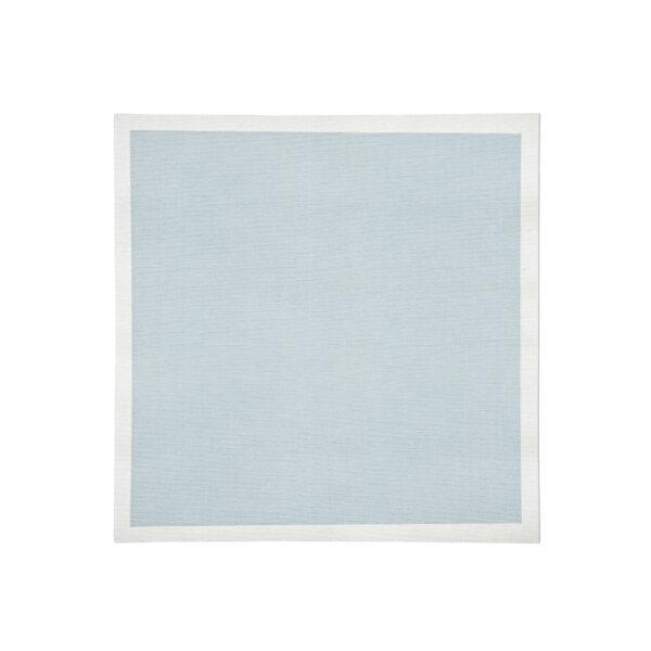 Sky with white Linen Napkin Flat