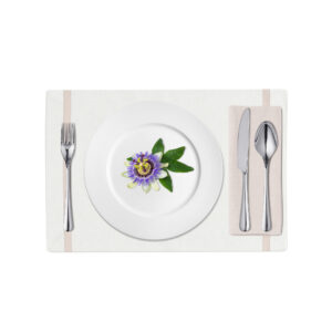 White and Pink Linen Placemat