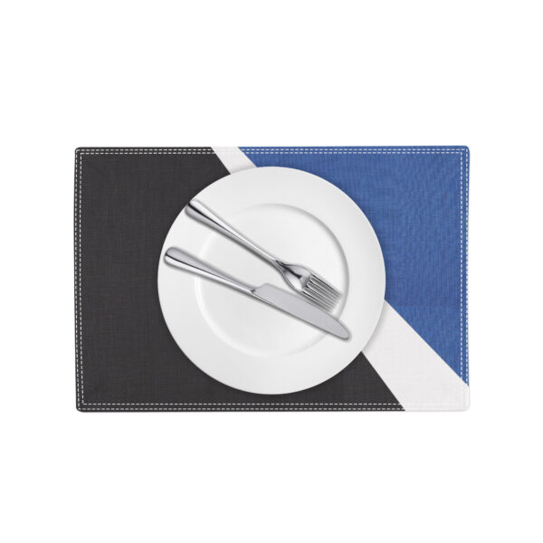 Spotlight Placemat - black white and blue