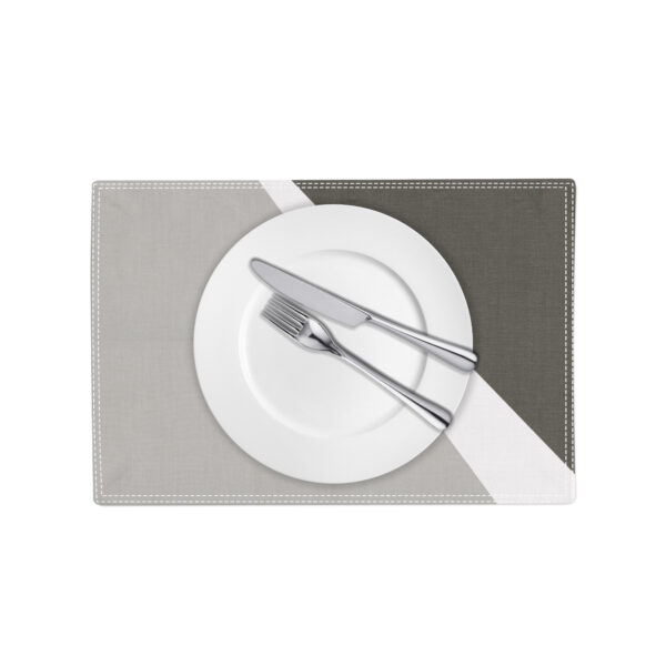 Spotlight Placemat - grey white and slate